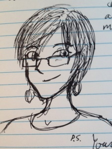 A sketch of Laura done by one of her creative writing students