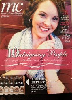 Laura Power on the cover of McHenry County Magazine, December 2012