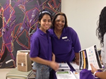 Evette and Stephanie at the resource fair