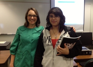 Laura and her V-Write mentee, Angelica